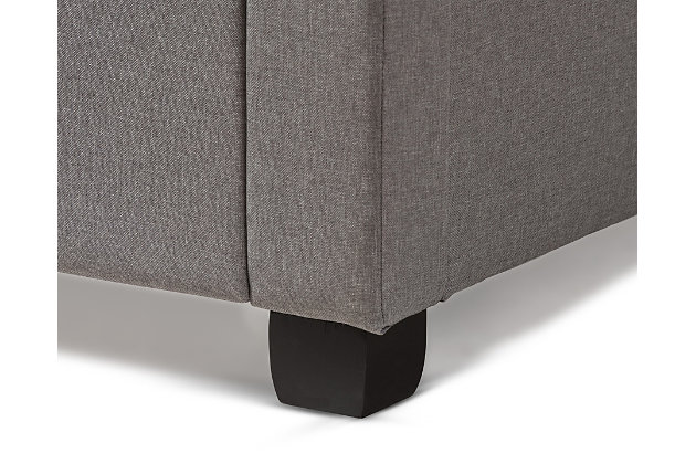 Tibault Queen Upholstered Bed, Gray, large