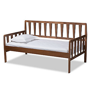 Baxton Studio Midori Modern and Contemporary Transitional Walnut Brown Finished Wood Twin Size Daybed, , large