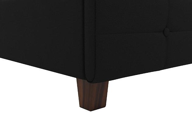 Ryder  Upholstered King Bed, Black, large
