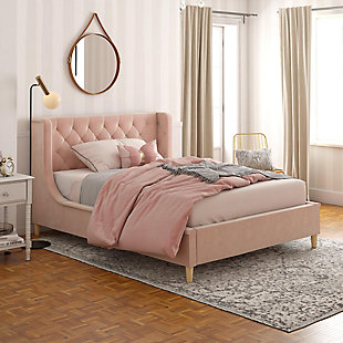 Little Seeds Monarch Hill Ambrosia Pink Full Upholstered Bed, Pink, rollover