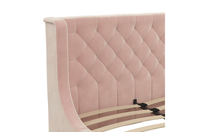Little Seeds Monarch Hill Ambrosia Pink Full Upholstered Bed, Pink, large