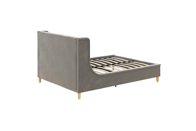 Little Seeds Monarch Hill Ambrosia Gray Full Upholstered Bed, Gray, large