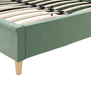 Little Seeds Monarch Hill Ambrosia Teal Full Upholstered Bed, Teal, large