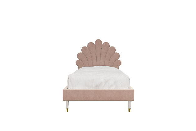 Little Seeds Monarch Hill Upholstered Full Poppy Bed, Pink, , large