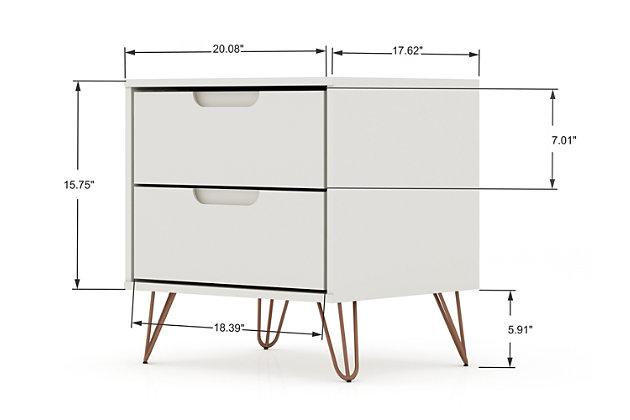 Modern  Dresser and Nightstand Set, Ivory, large