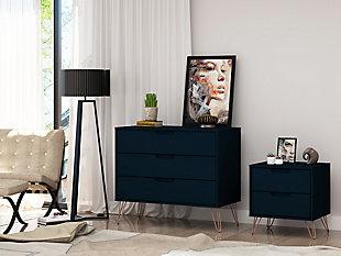 Modern  Dresser and Nightstand, Blue, rollover