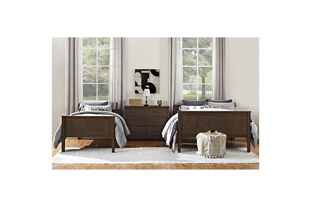 Atwater Living Agnes Twin over Full Bunk Bed, Mocha, , large