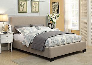 Modus Furniture Saint Pierre Full Linen Platform Storage Bed, , rollover