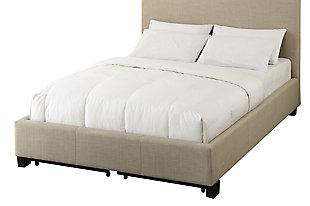 Modus Furniture Saint Pierre Full Linen Platform Storage Bed, , large