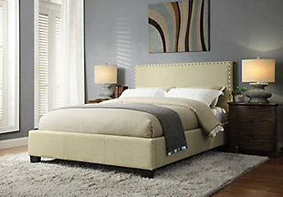 Modus Furniture Tavel Full Nailhead Platform Storage Bed, , rollover