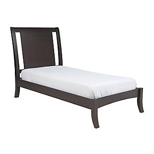 Modus Furniture Nevis Twin Size Low Profile Sleigh Bed, , large