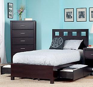 Modus Furniture Riva Twin Platform Storage Bed, , rollover