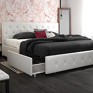 Dana King Upholstered Bed with Storage, , rollover