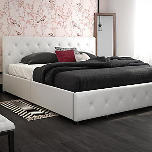 Dana King Upholstered Bed with Storage, , large