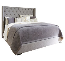 sorinella queen upholstered bed - Quilted Bed Frames