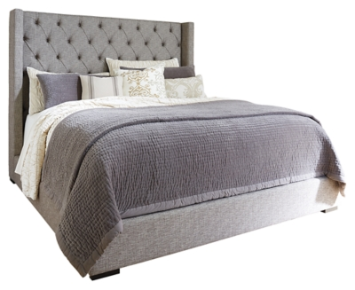 Picture of: Sorinella Queen Upholstered Bed With 1 Large Storage Drawer Ashley Furniture Homestore