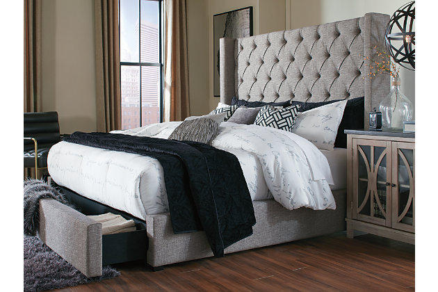 Magnificent Sorinella Queen Upholstered Bed With 1 Large Storage Drawer Short Links Chair Design For Home Short Linksinfo