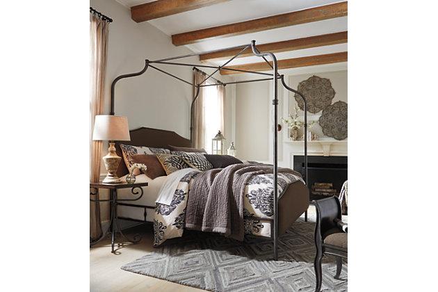 moriann metal frame elegant canopy bed - Post Bed Frames