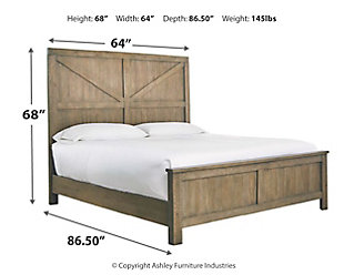 Aldwin Queen Panel Bed, Gray, large