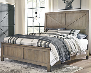 Aldwin Queen Panel Bed, Gray, rollover