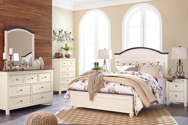 Woodanville Queen Panel Bed | Ashley Furniture HomeStore