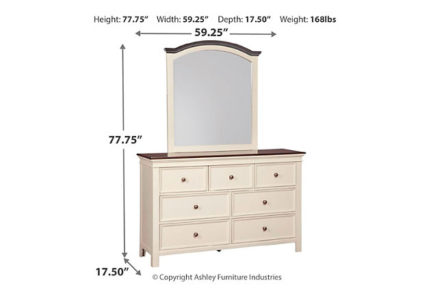 Woodanville Dresser and Mirror, , large