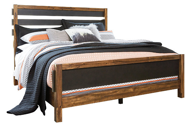 Harlynx Queen Bed with 2 Nightstands, , large