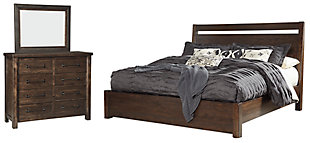 Starmore King Panel Bed with Mirrored Dresser, , rollover