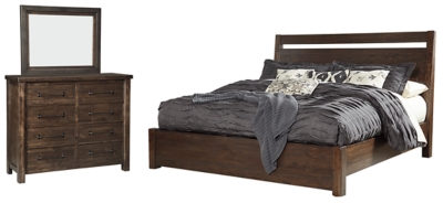 Picture of: Starmore King Panel Bed With Mirrored Dresser Ashley Furniture Homestore