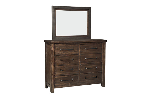 Starmore King Panel Bed with Mirrored Dresser, , large