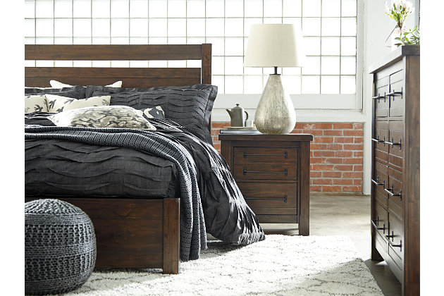 Starmore Queen Panel Bed, Brown, large