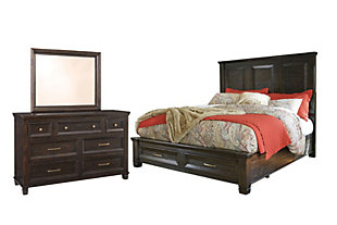 Townser 5-Piece King Panel Bedroom, , large