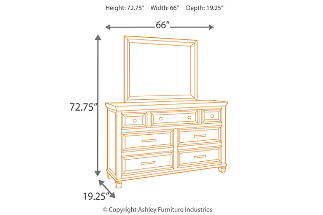 Townser Dresser and Mirror, , large