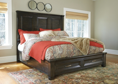 Townser Queen Panel Bed with Storage Ashley Furniture HomeStore