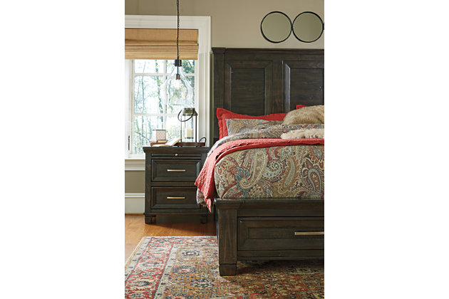 Townser King Panel Bed with Storage, , large