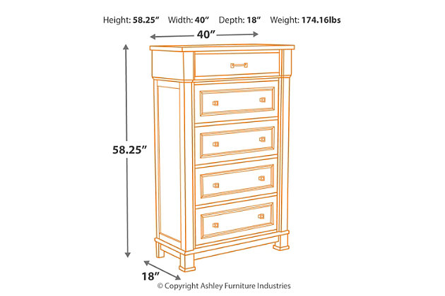 Jennily Chest of Drawers, , large