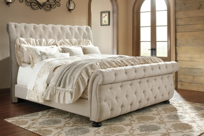 - Willenburg Queen Upholstered Sleigh Bed Ashley Furniture HomeStore