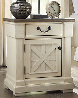 Bolanburg Nightstand, Two-tone, rollover
