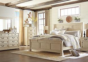 Bolanburg Queen Panel Bed, Antique White, large
