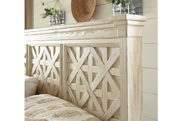 Bolanburg California King Panel Bed, Antique White, large