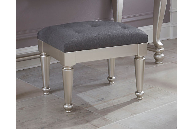 Silver Coralayne Stool by Ashley HomeStore