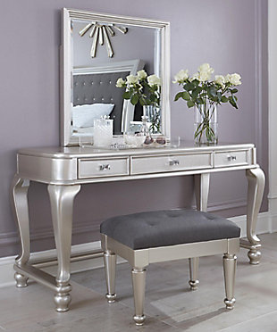 Coralayne Youth Mirrored Vanity with Chair, , rollover