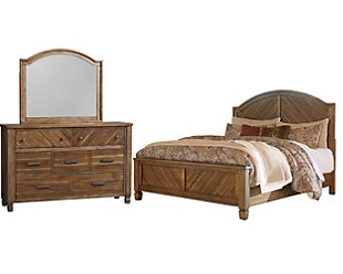 Colestad 5-Piece King Panel Bedroom, Light Brown, large