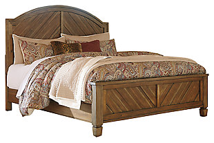 Colestad Queen Panel Bed, Light Brown, large