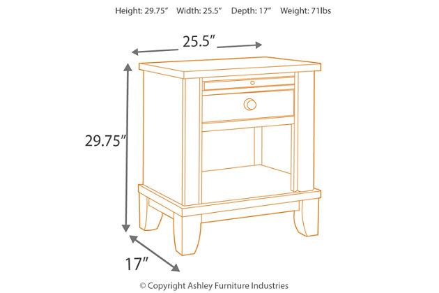 tamburg nightstand | ashley furniture homestore