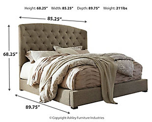 Gerlane King Upholstered Bed, Graphite, large