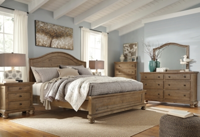 Trishley Queen Panel Bed Ashley Furniture Homestore
