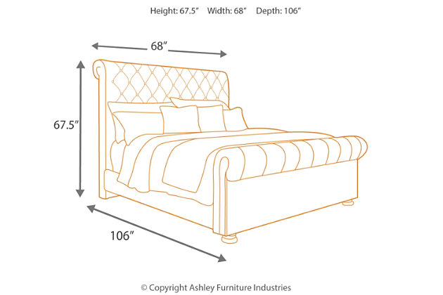 Windville Queen Upholstered Sleigh Bed Ashley Furniture