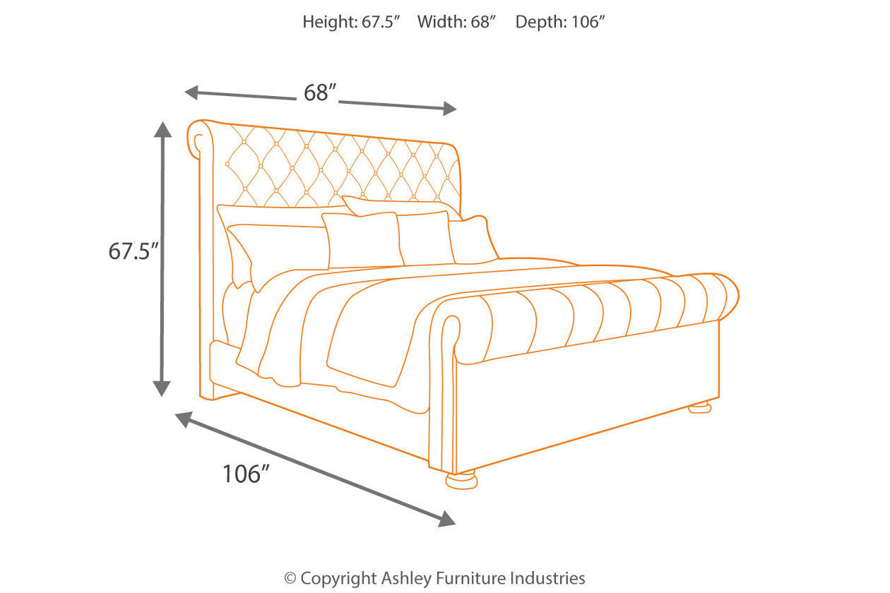 The Windville Upholstered Bed Is That Sumptuously Chic Bedroom
