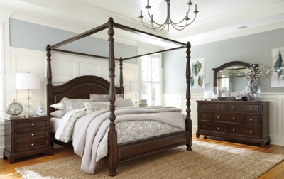 Lavidor King Canopy Bed Ashley Furniture Homestore
